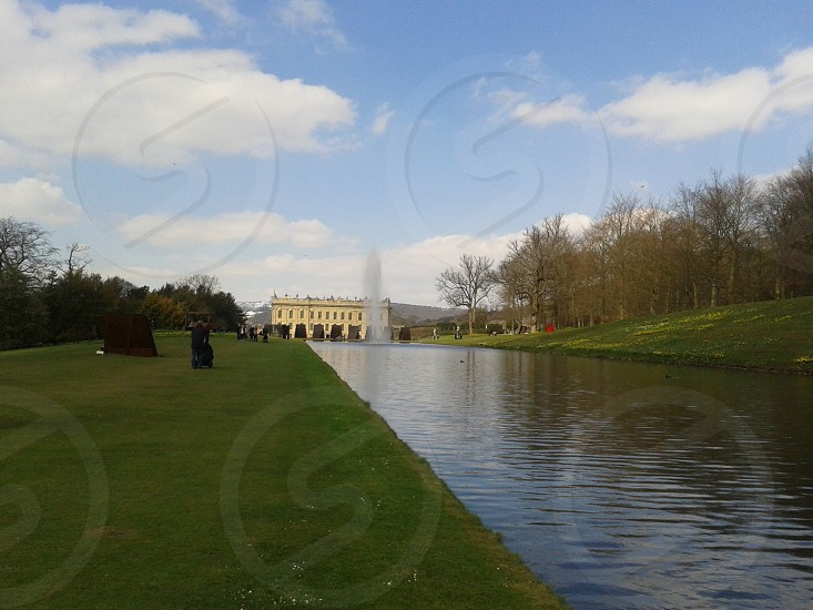 Lake at castle Howard photo