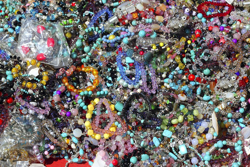 colorful jewelry pattern texture macro many colors in market photo