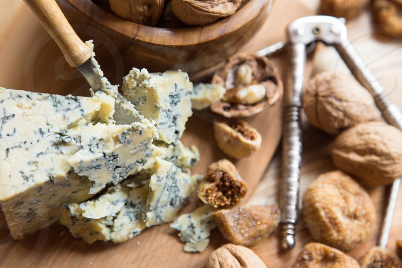food photography: nut and cheese board photo