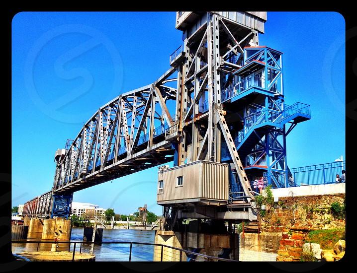 grey metal bridge image photo