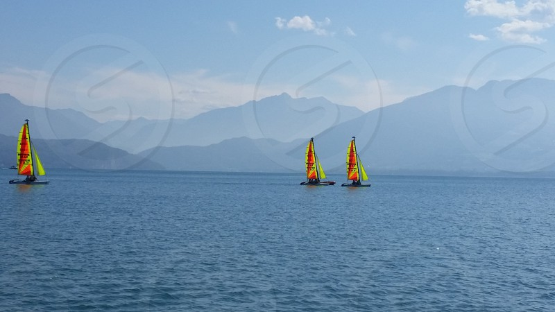 Lake Annecy France Sailing French Alps Boating Travel photo