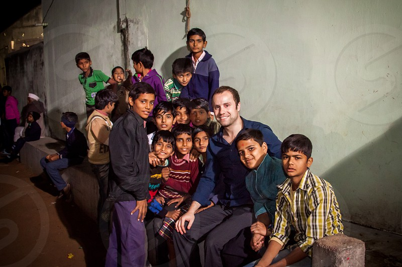Visiting India for a friend's wedding we were one of the first white people to set foot in the small village of Karjisan. The kids followed me everywhere!  photo