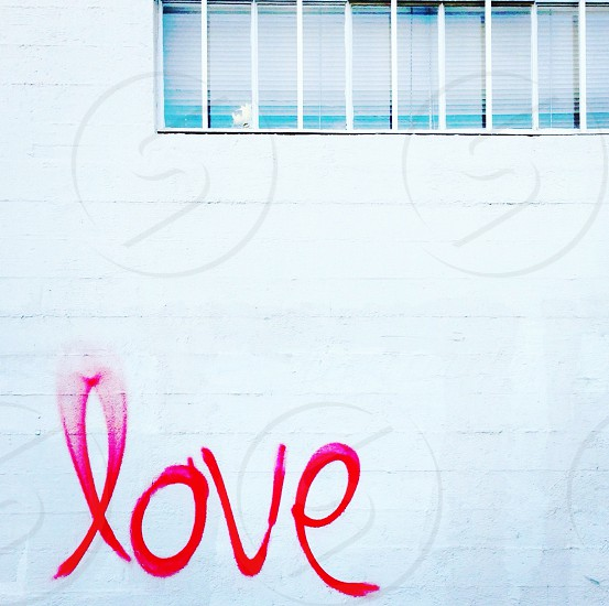 """Love"" graffiti photo"
