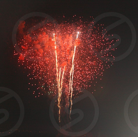 red fireworks photo
