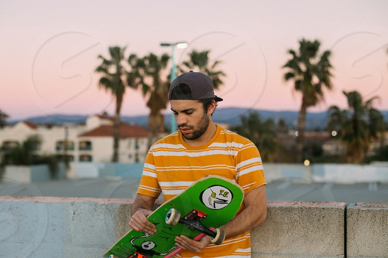 portrait of a skaterboarder photo