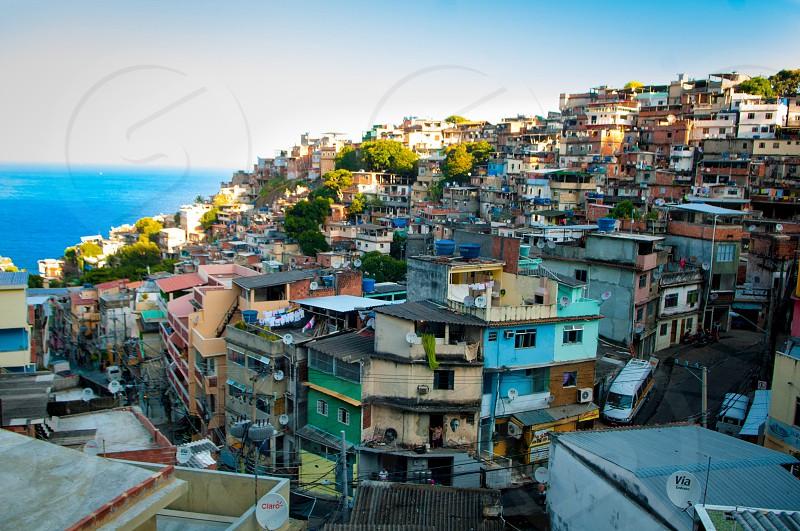 Rio de Janeiro Brazil favela beach  photo