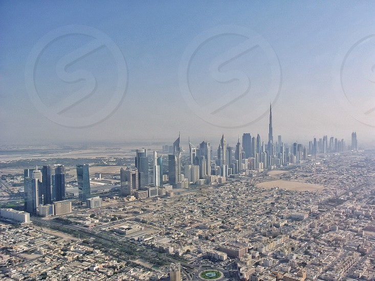 Aerial view of Dubai U.A.E. photo