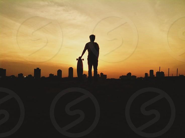 black skateboard photo