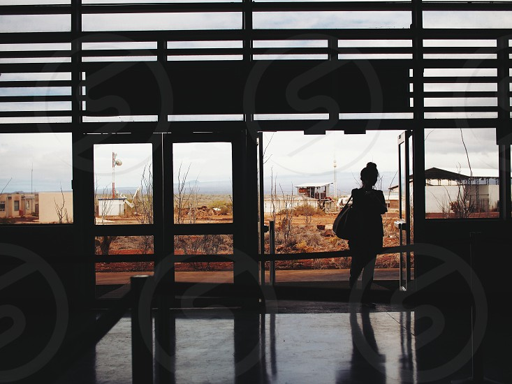 Baltra Airport waiting photo