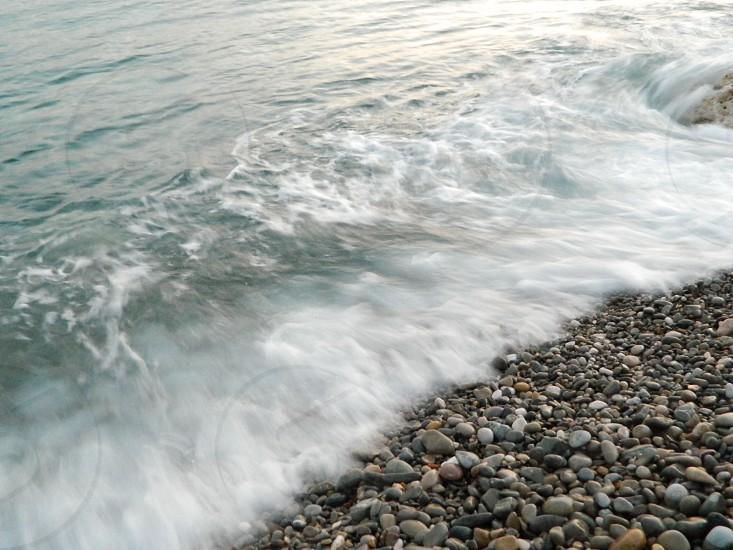 stones on seashore photo
