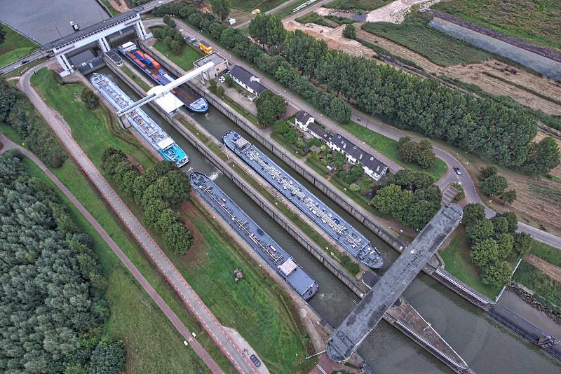 This is the Princess Beatrix lock in Nieuwegein the Netherlands. photo