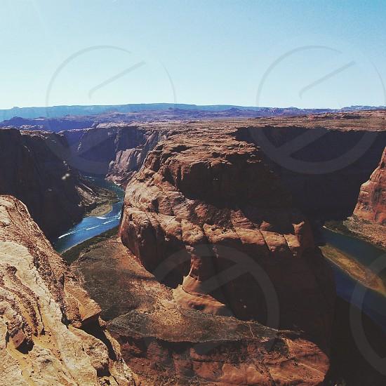 river running through the grand canyon photo