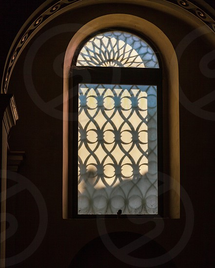 LECCO LOMBARDY/ITALY - OCTOBER 29 : Unusual window in the Basilica of San Nicolo in Lecco Italy on October 29 2010 photo