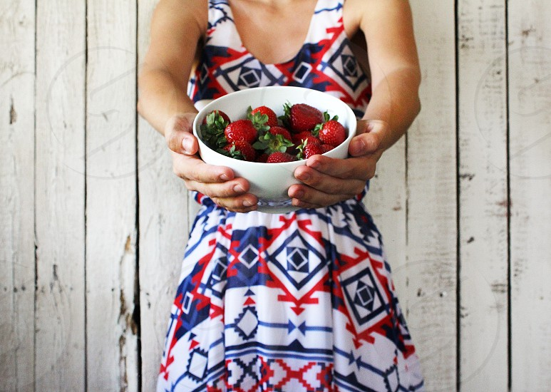 Bowl of strawberries anyone? photo