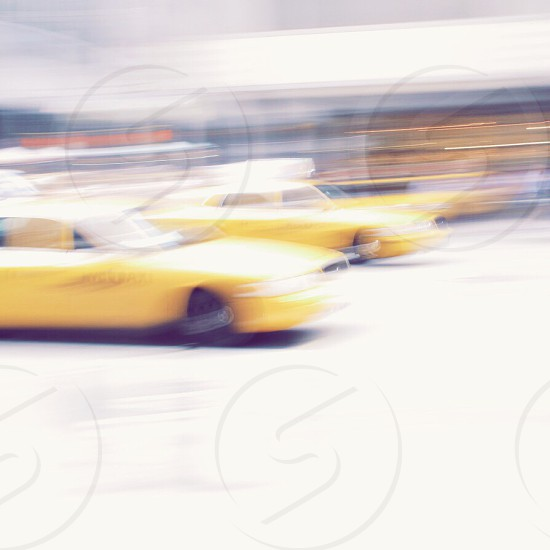 NYC taxis.  photo