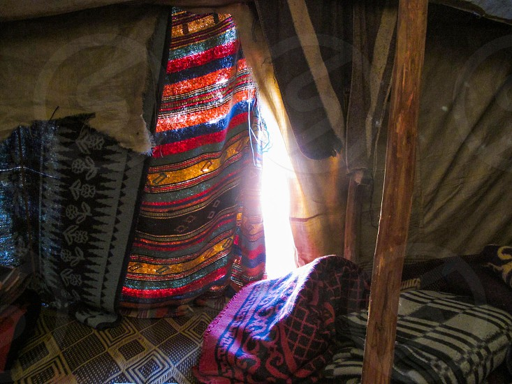 Sitting inside a Berber tent in the Sahara Desert the sun tempts one to either hide inside or go outside up to you ;) photo