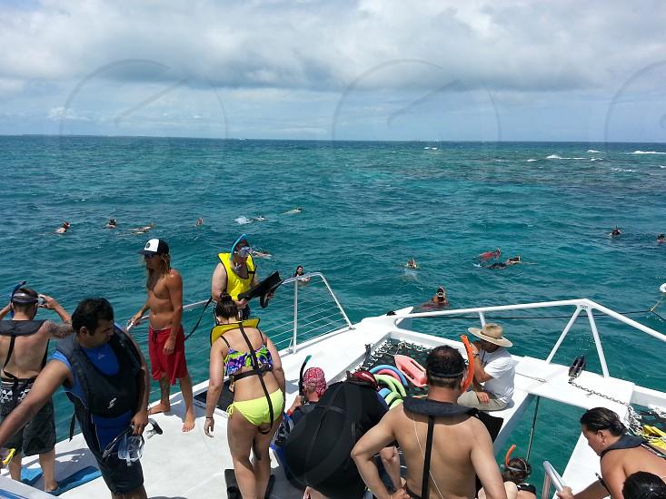 Snorkeling snorkel diving tour ocean photo
