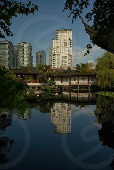 Reflection mirror water Canada Vancouver garden   photo