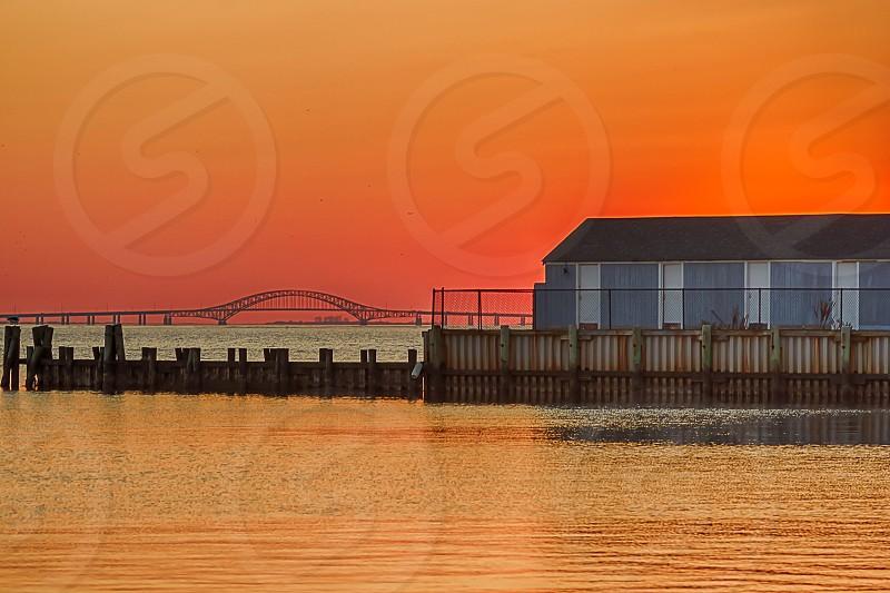 Islip Town Beach Sunset photo