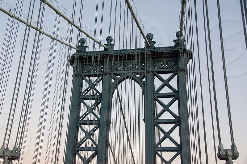 Bridge cables Manhattan NYC New York New York City structure engineering photo