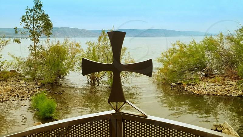 Cross Sea of Galilee lake - Capernaum Israel photo