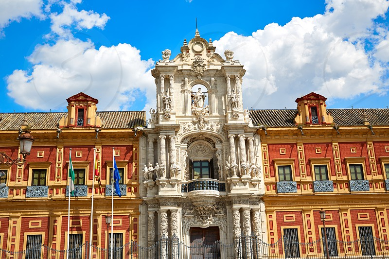 Seville Palacio de San Telmo in Andalusia of spain photo