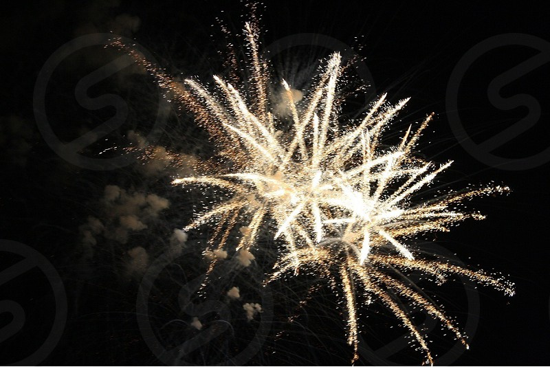 fireworks display during night photo