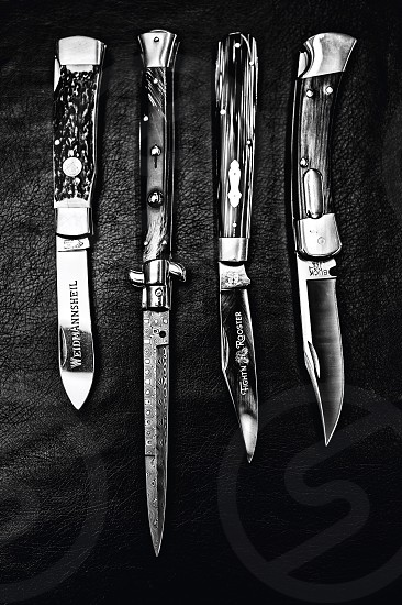 Knives switchblade weapons collection photo