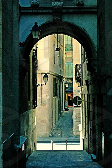 Barcelona Spain Europe barrio gotic gothic  photo
