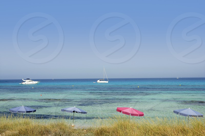 Formentera island near Ibiza in Mediterranean Spain summer photo