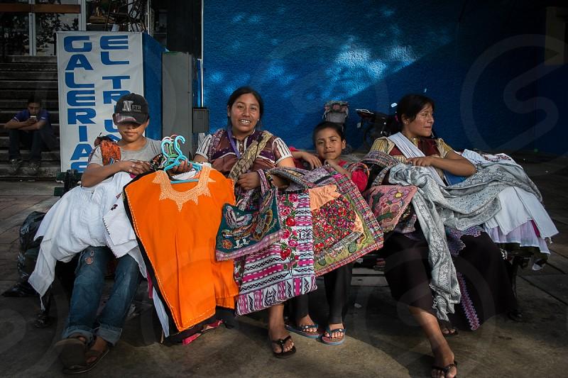 Chiapa Hawkers in Merida Mexico photo