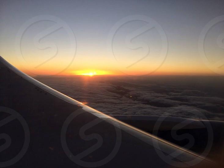 Sunrise Indianapolis-Atlanta-Sao Paulo flight photo