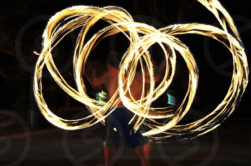 Fire blur photo