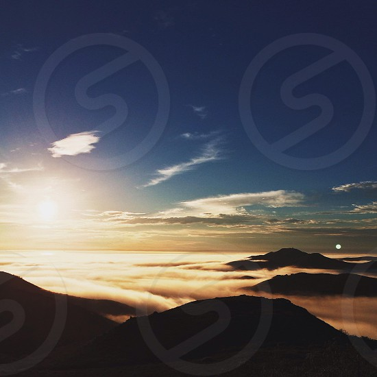 mountains and sky view photography photo