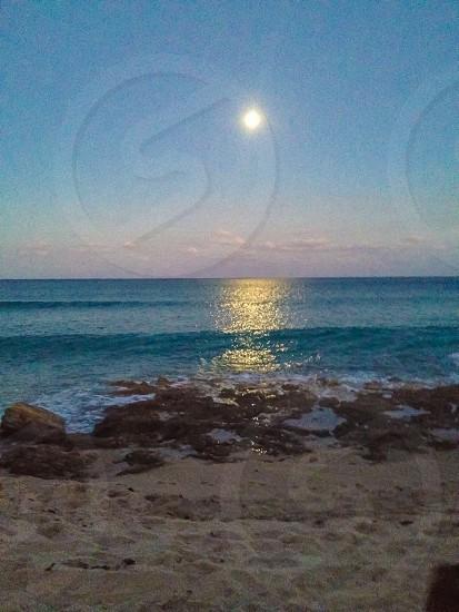 Full moon rising photo