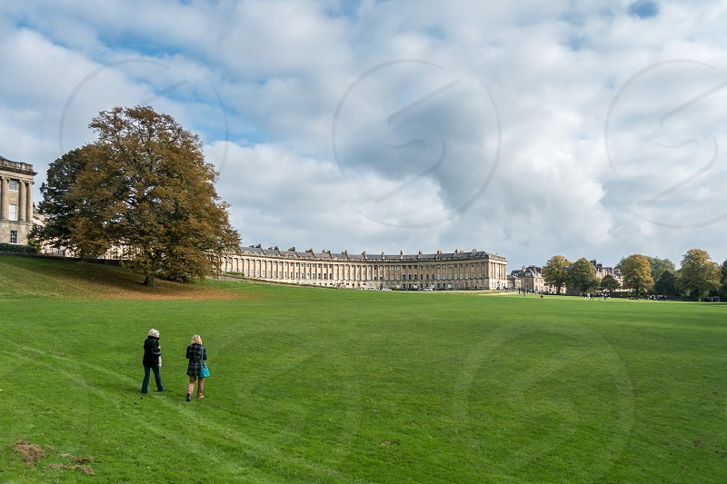 View of the Royal Crescent in Bath Somerset photo