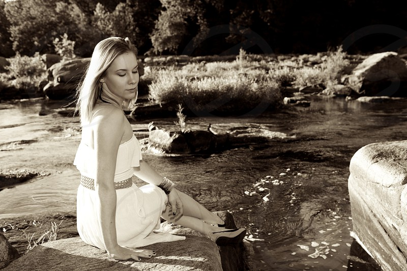 Outdoor dress river. photo