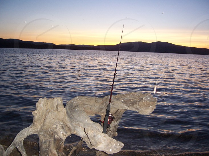 Fishing on a lake photo