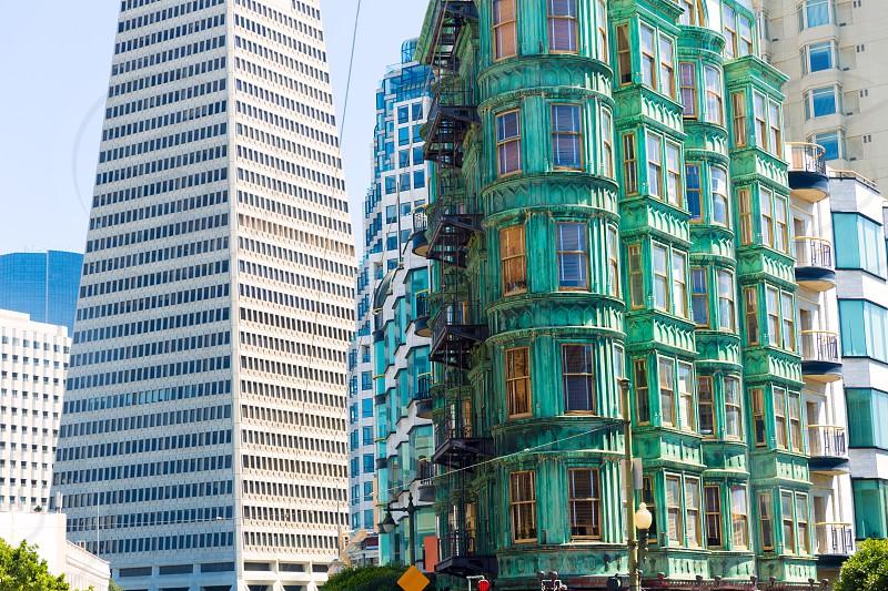 San Francisco Downtown Columbus Avenue with Karny St at California USA photo