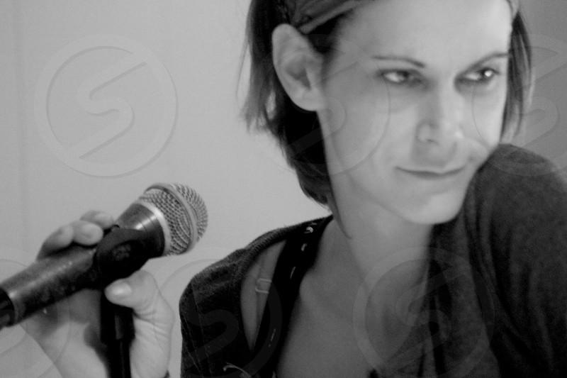 Singer songwriter musicians guitarist singing mic music photo