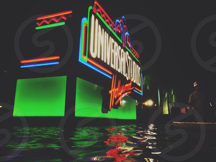 Universal Studios neon signage photo