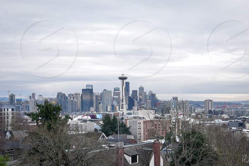Seattle's famous Kerry Park view of Seattle and the Puget Sound photo