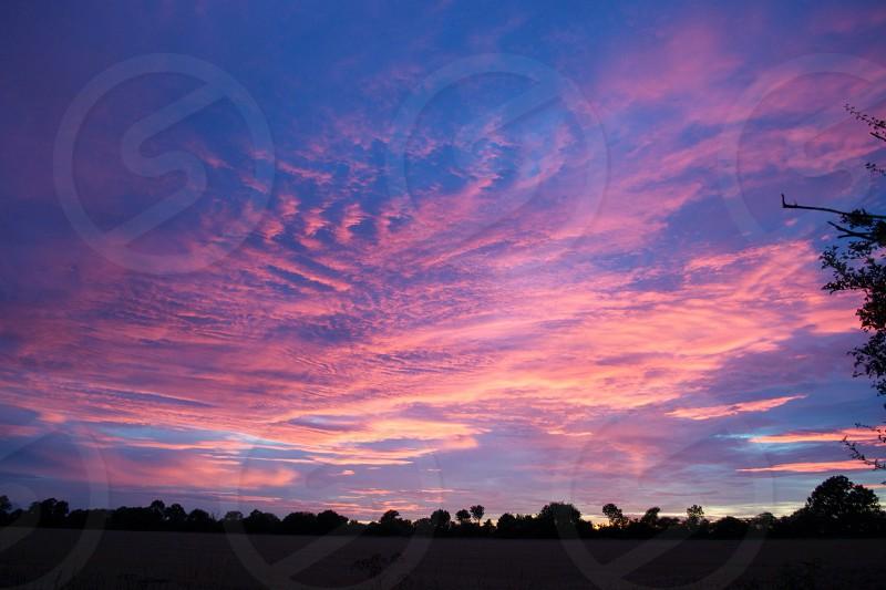 Suffolk sunset photo