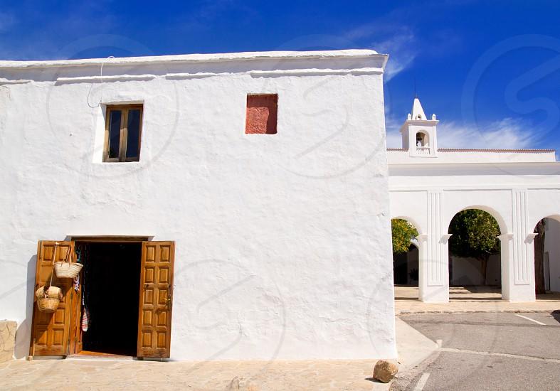 Ibiza San Miguel de Balansat white church Mediterranean architecture photo