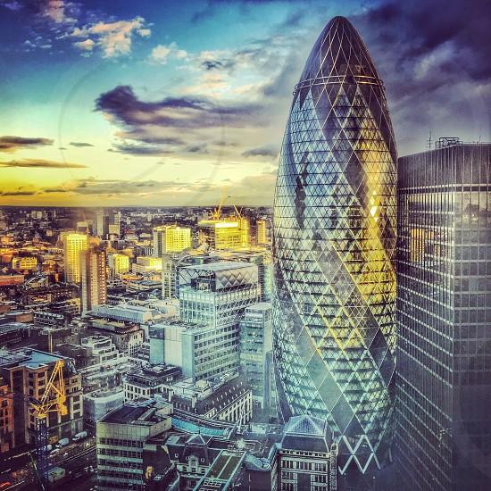 London city landscape gherkin photo