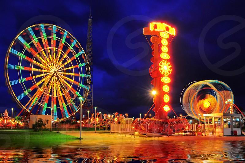 amusement park rides photography photo