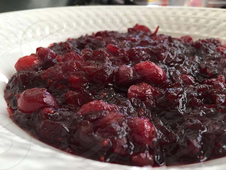 Cranberry sauce photo