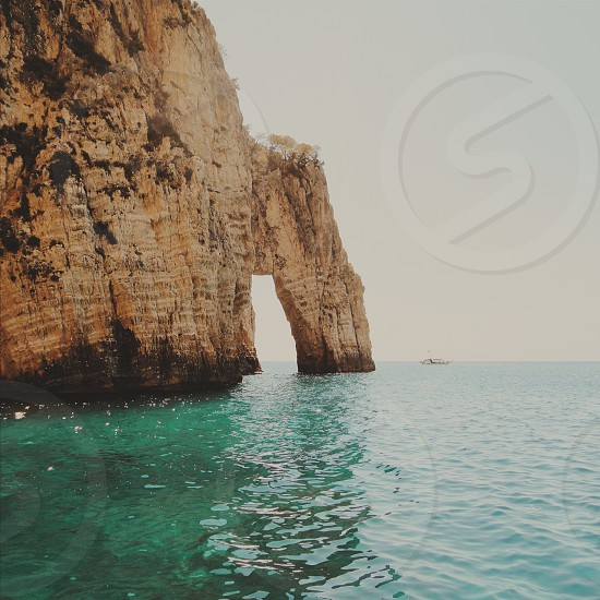 rock sea summer travel holiday scenery landscape nature photo