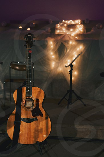guitar stage lights photo