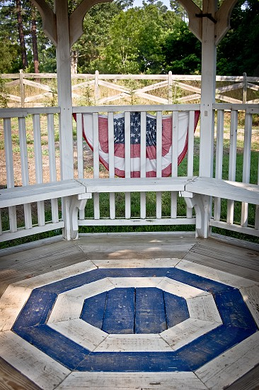 A gazebo full of patterns; Linwood North Carolina photo